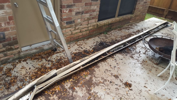 When our gutter was ripped off, how we fixed our fascia boards - evanandkatelyn.com