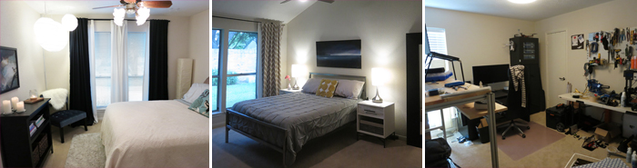 bedroom carpet tryptic