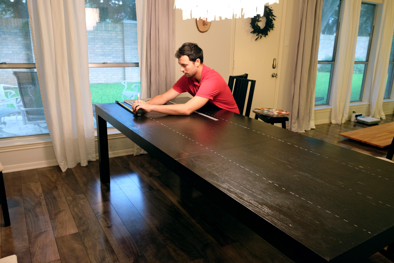diy butcher block dining table