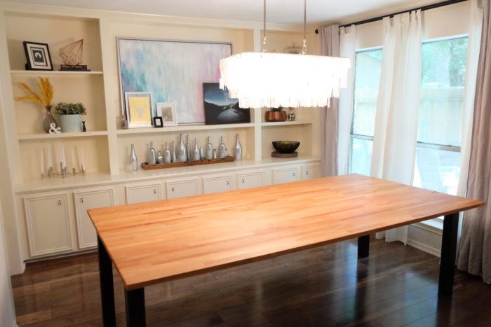DIY Butcher Block Dining Table - Evan & Katelyn | Home DIY ...
