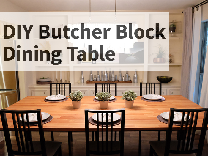 DIY Butcher Block Dining Table - evanandkatelyn.com