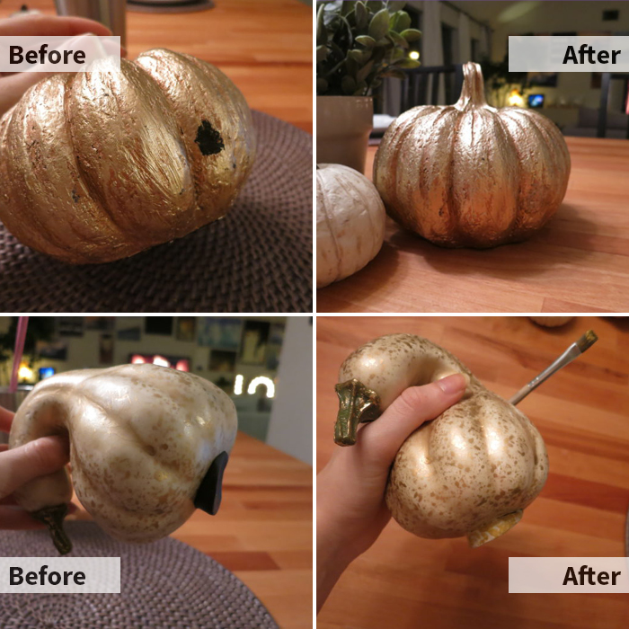 Upgrading Faux Gourds with Paint and Sugru evanandkatelyn.com