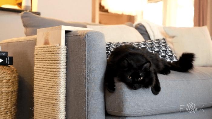 Diy Modern Cat Scratching Post Evan Katelyn Home Diy