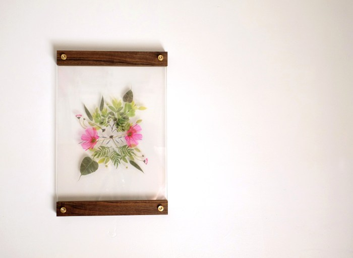 DIY easy botanical wall art