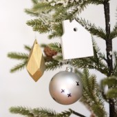 DIY gold faceted ornament