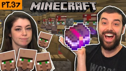 We tried building a villager trading hall but everyone ran away Minecraft pt 37 Evan & Katelyn Home DIY Tutorials