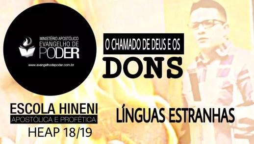 DONS - LÍNGUAS ESTRANHAS - DONS DE INSPIRAÇÃO HEAP 18/19 - MIQUÉIAS CASTREZE