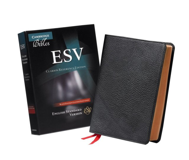 Cambridge Esv Clarion Reference Bible Black Goatskin Leather