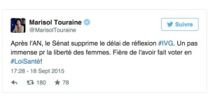 Tweet Marisol Touraine