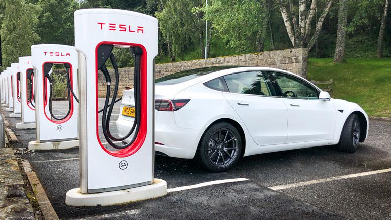 Aviemore Tesla Supercharger