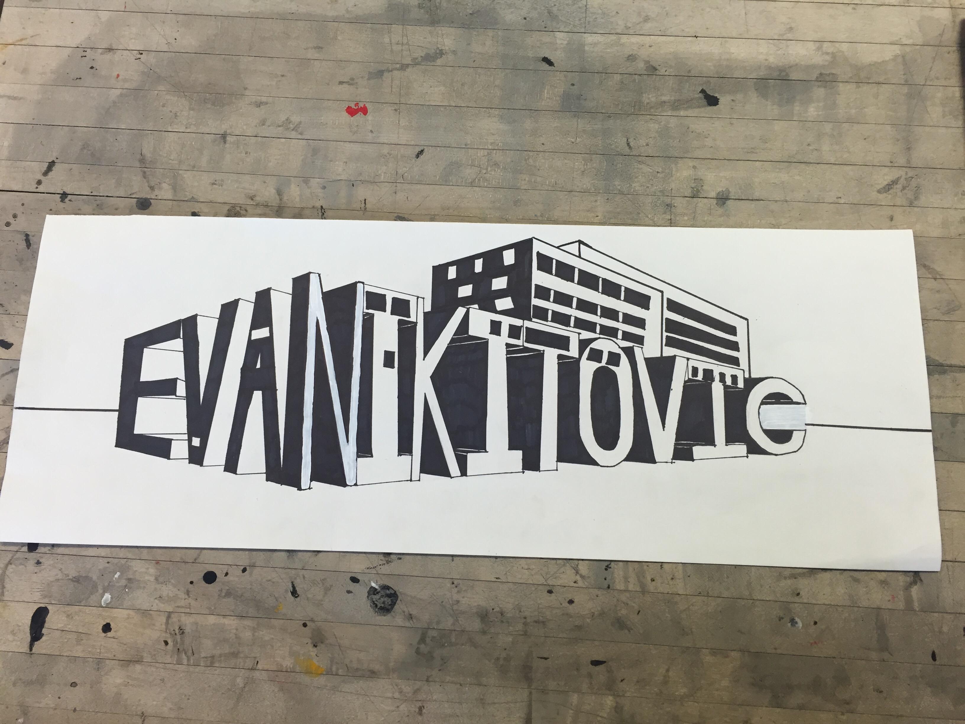 2 Point Perspective Name Drawing Evanikitovicgcva