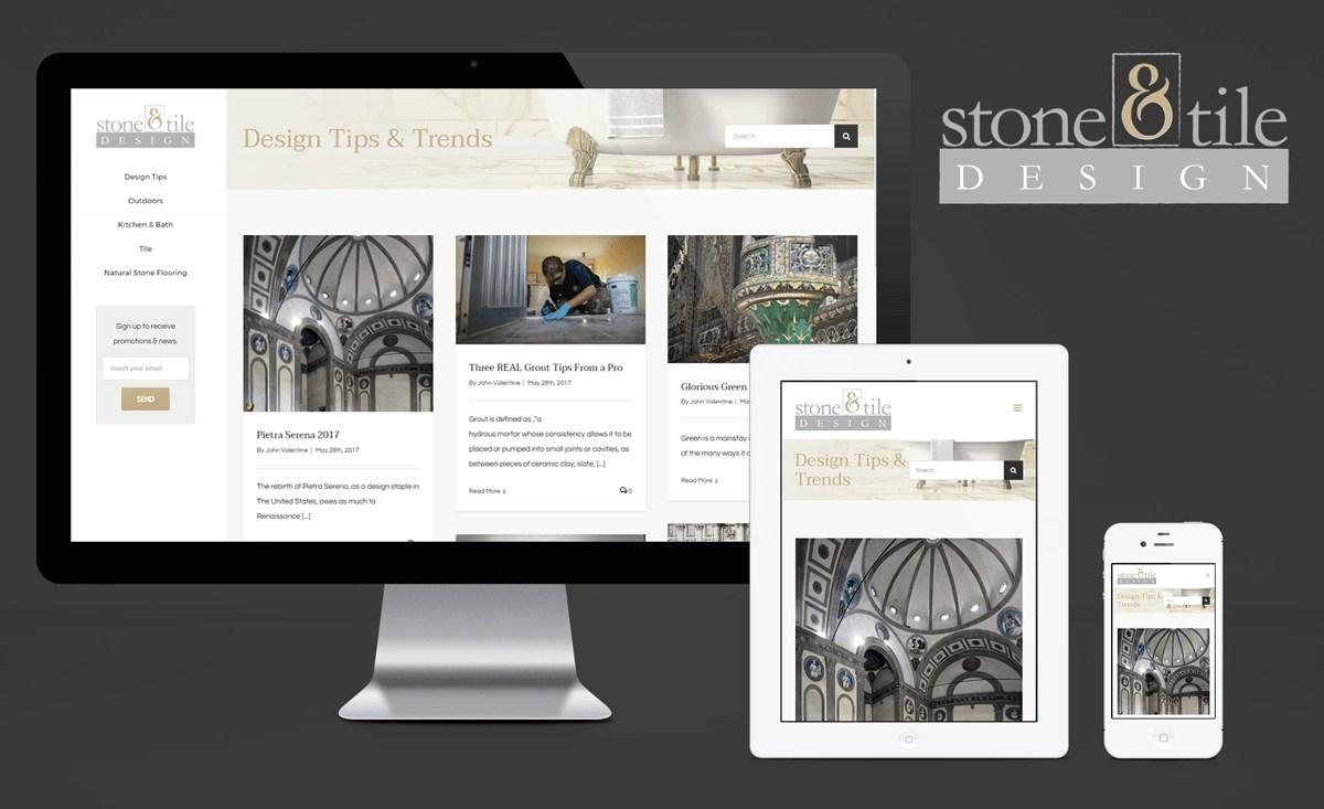 Stone and Tile Design Website Design and Logo Design