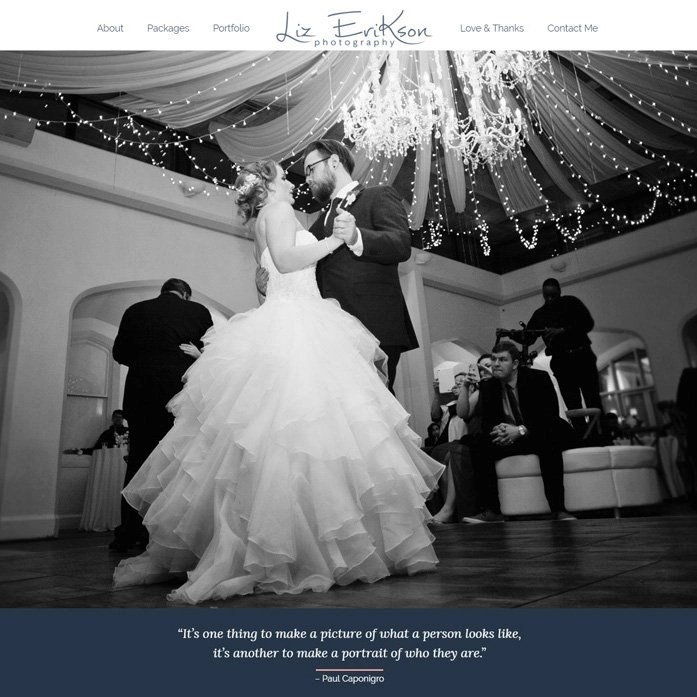 Website Design for Alpharetta Photographer Liz Erikson