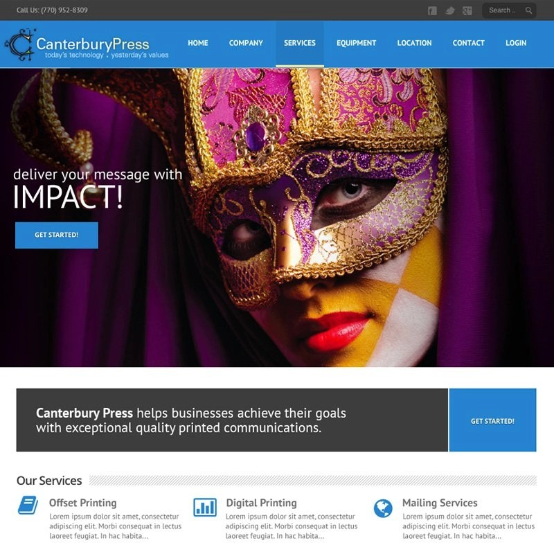 Website Design Atlanta Commercial Printer