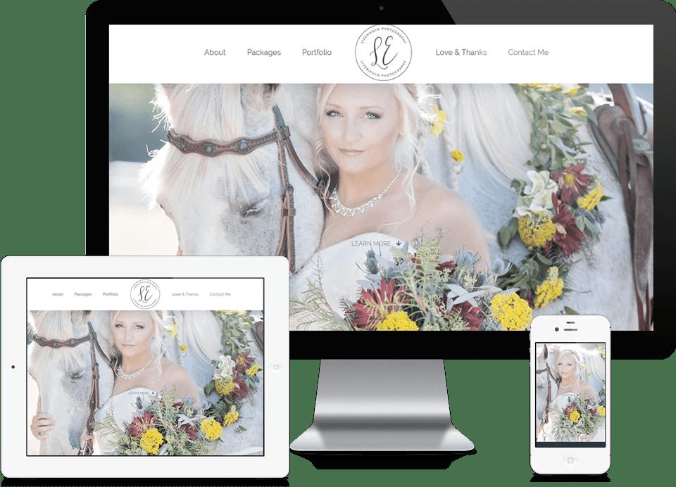 Alpharetta Small Business Website Design - Elizabeth Erikson Photography