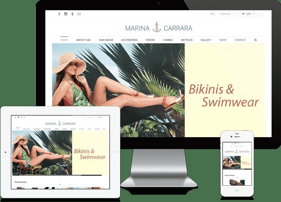 Responsive Ecommerce Website Design - Miami E-Commerce Company Marina & Carrrara