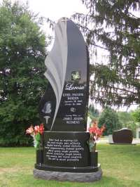 Vertical Upright Headstones & Estate Monuments - Evans ...
