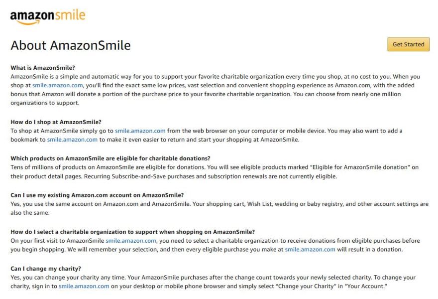 Do a Good Deed with Amazon Smile