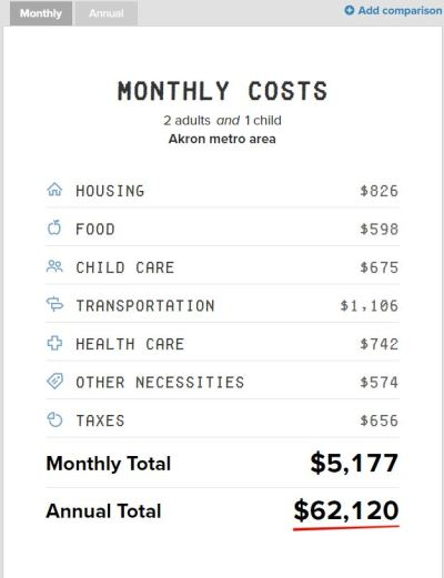 A Family Budget Calculator -- Akron
