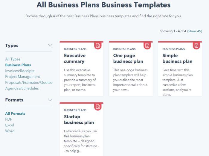 Building a Business Plan -- from HubSpot