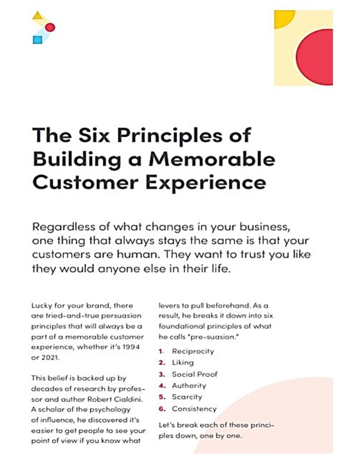 Creating a Great Customer Experience