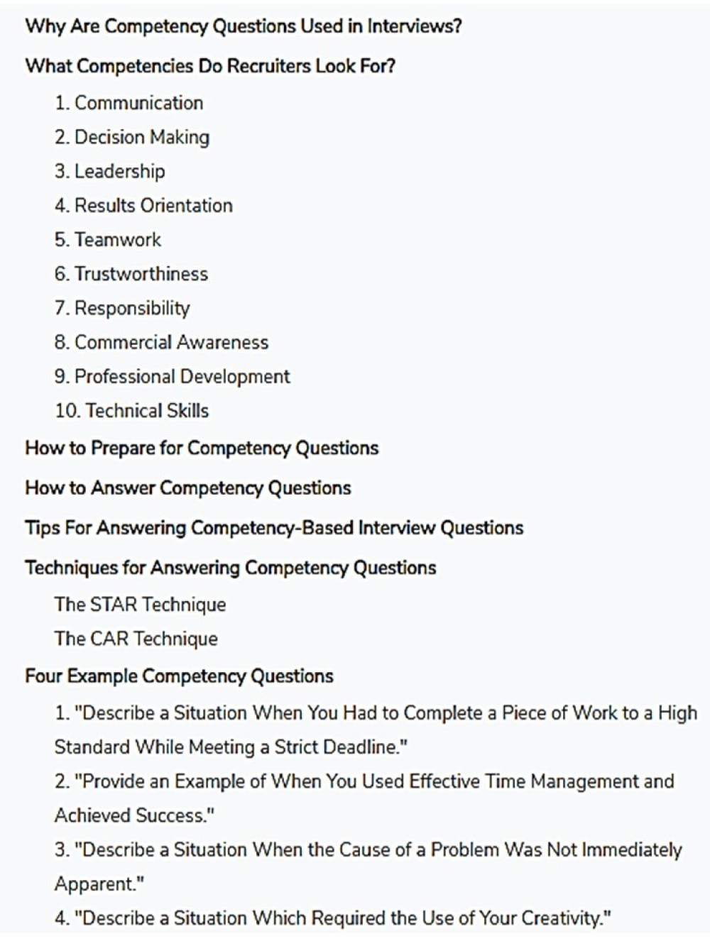 How to Answer Competency-Based Interview Questions
