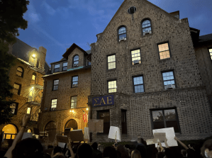 2,000 protest after reports of druggings at Northwestern fraternities