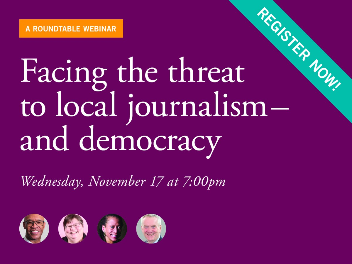 Facing the threat to local journalism - and democracy
