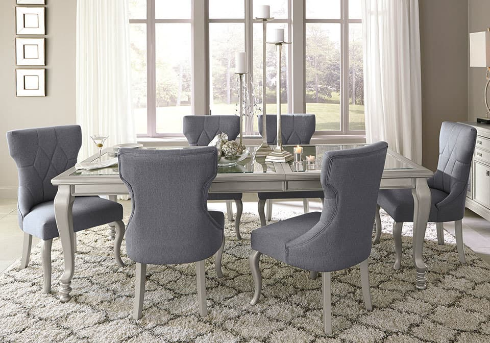 Coralayne Dining Set With 6 Side Chairs Evansville Overstock Warehouse