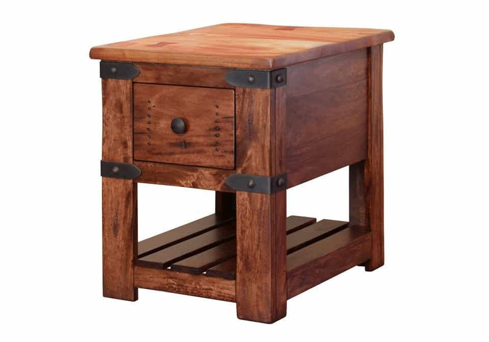 chair side tables with storage folding round parota table evansville overstock warehouse 600x420
