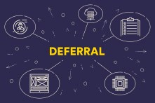 Business illustration showing the concept of deferral