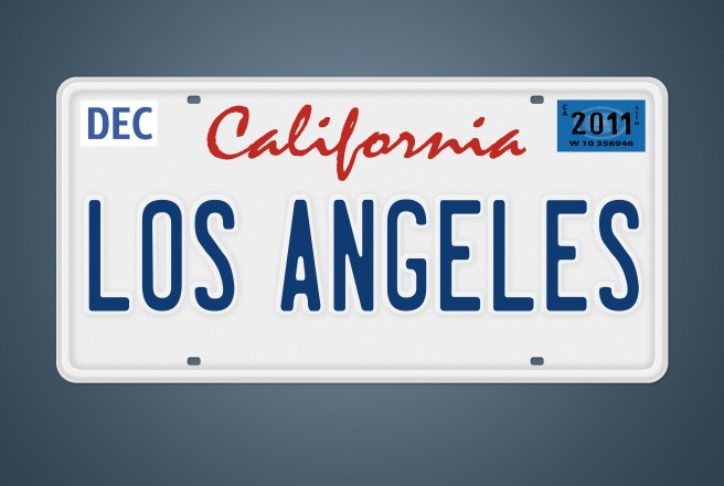 CA Nummernschild Los Angeles