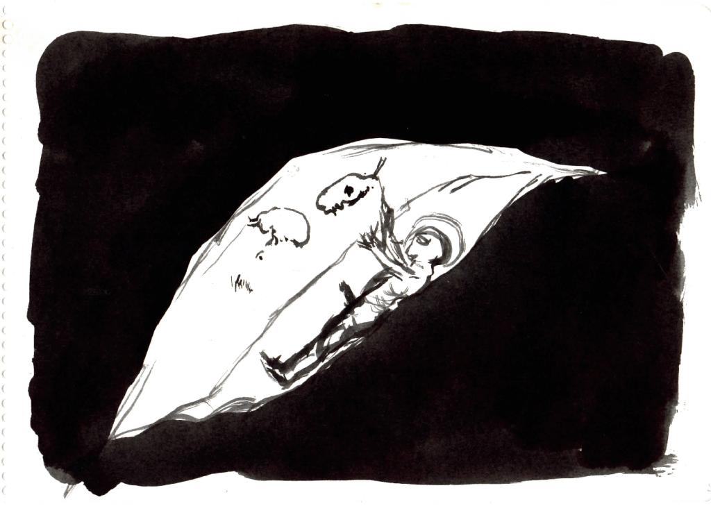 1.- Mago Enamorado. Tinta en una larga grieta de luz.