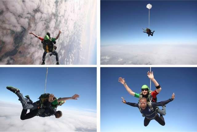 Saut en parachute Hervé