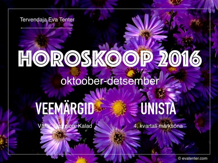 horoskoop 2016 IV kvartal veemärgid