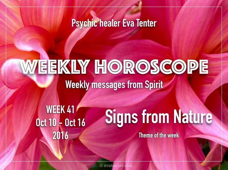 Weekly horoscope week 41 2016