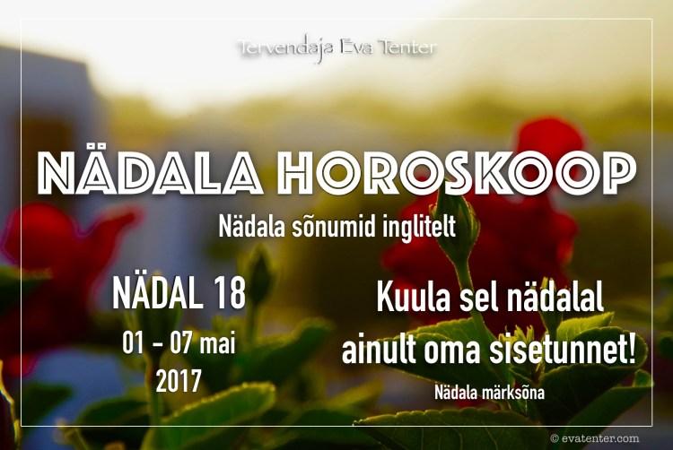 nädala horoskoop 01.05-07.05.2017