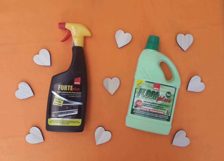Când folosești produse Sano, curățenia e floare la ureche!