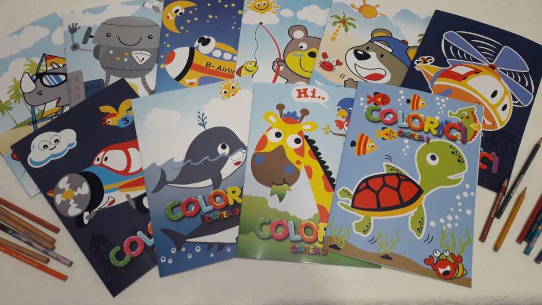 Colorici – 10 Cărți de colorat pentru copii