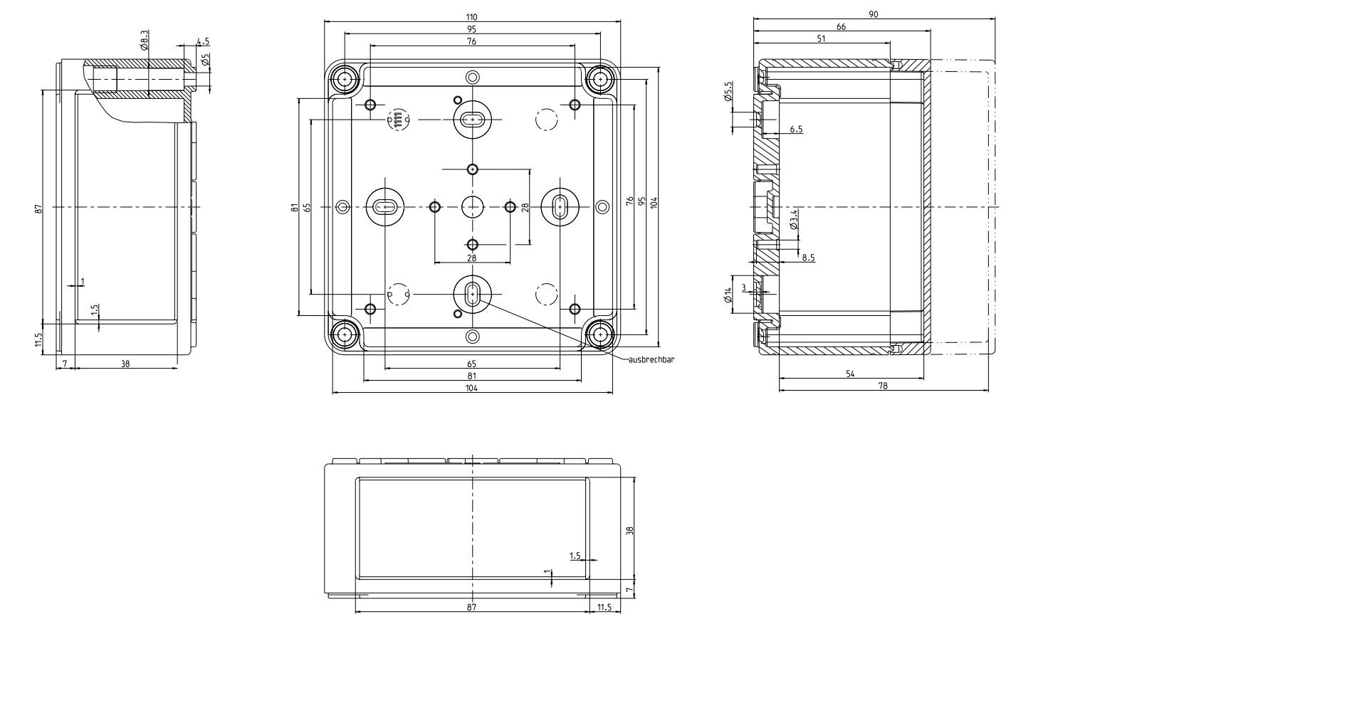 Ip66 Junction Box Polycarbonate Series Junction