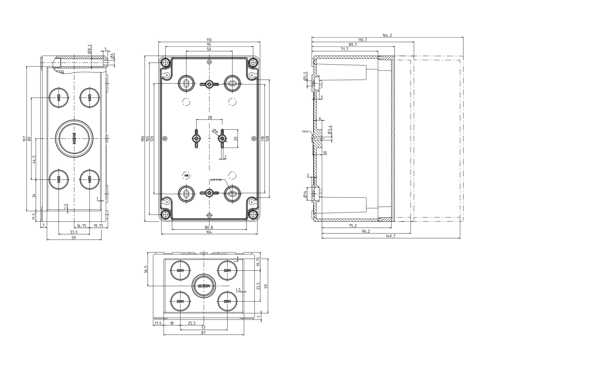 Ip66 Junction Box Polystyrene Series Junction