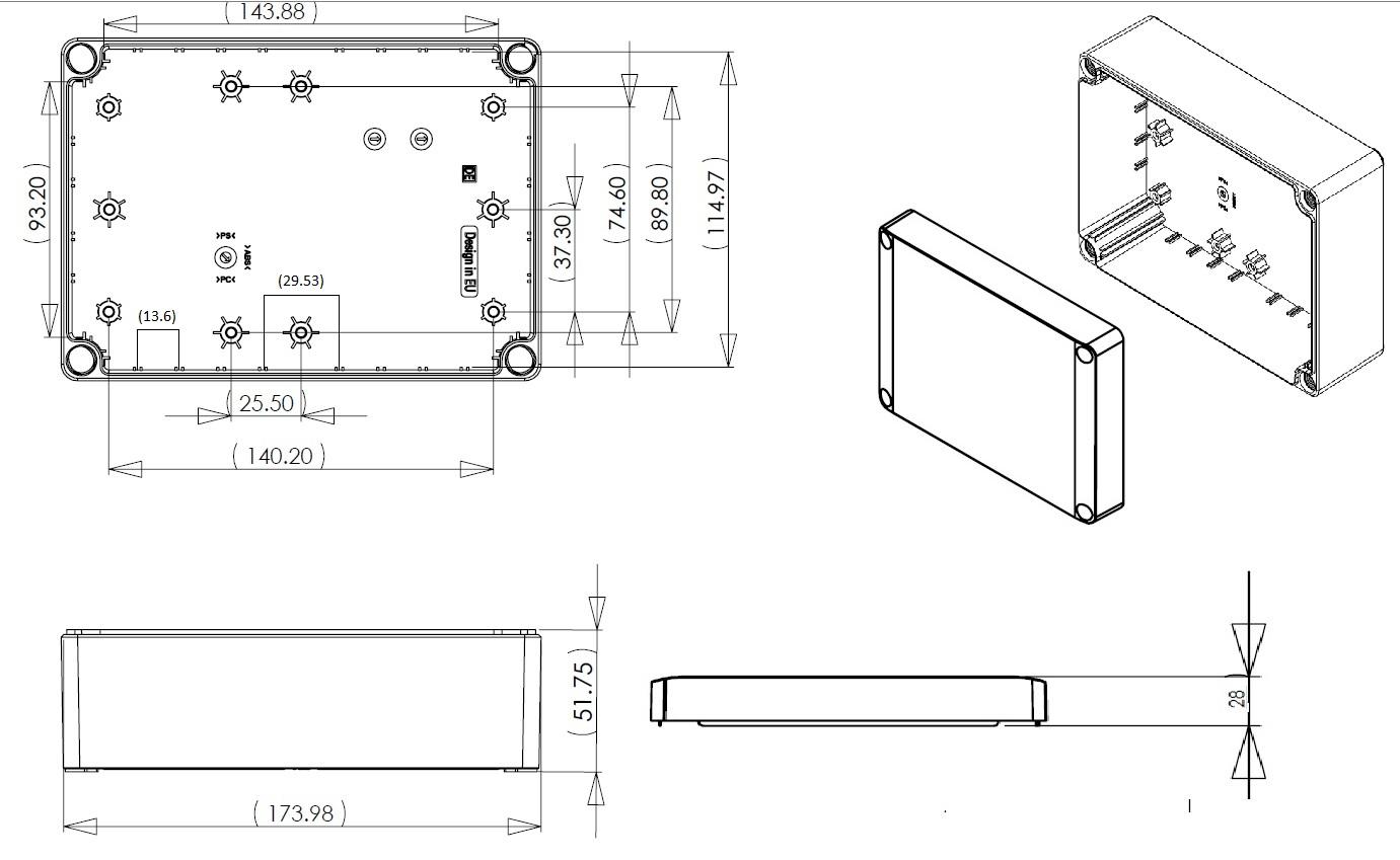 Dn14e Junction Box Dn Series Ip66 Enclosures