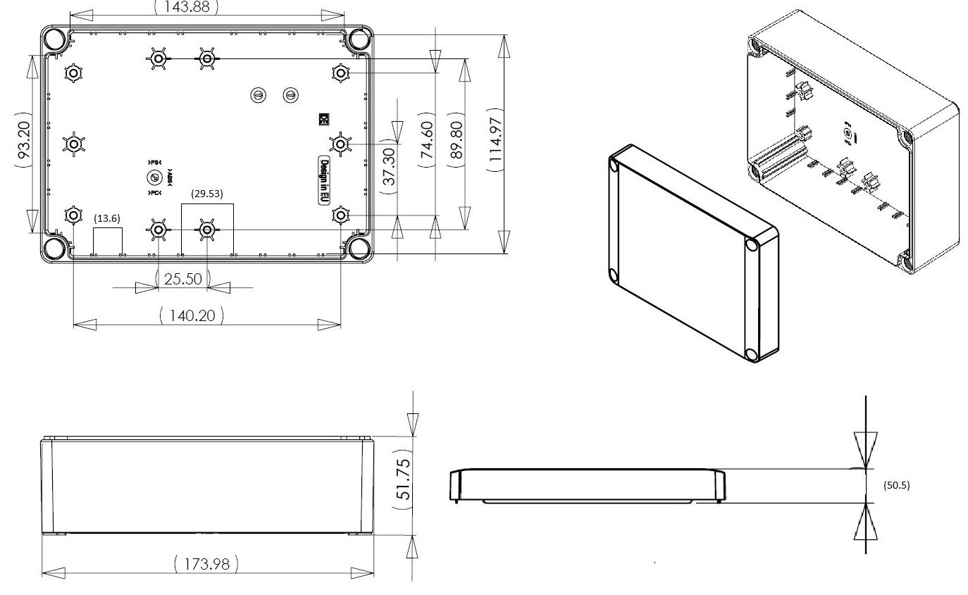 Dn15e Junction Box Dn Series Ip66 Enclosures