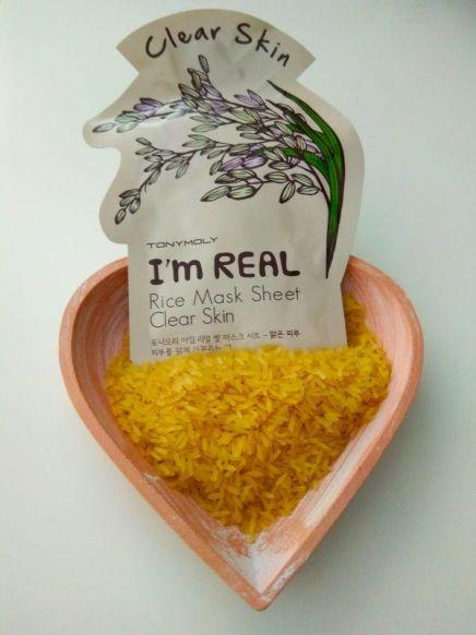 mascarilla I'M REAL de arroz