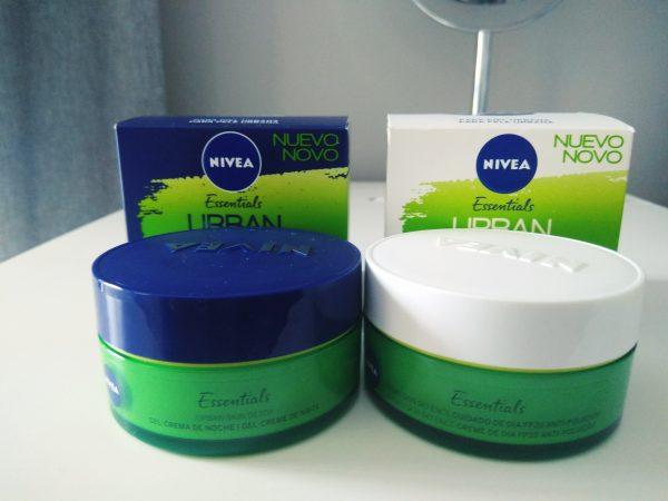 NIVEA, Essentials Urban Skin Defence y Detox , crema de día y crema de noche