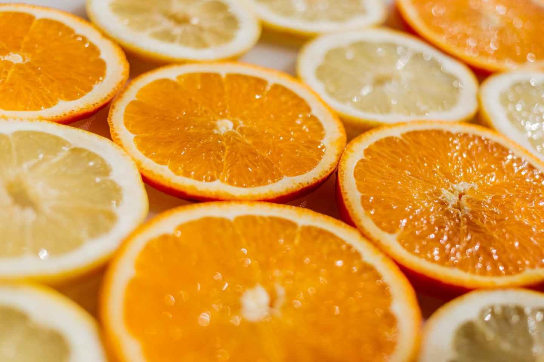 bright citrus close up color