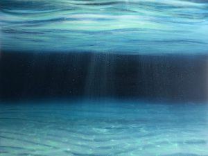 Large original ocean painting in oil on canvas