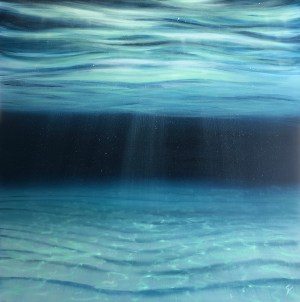 Large original ocean painting in oil on canvas