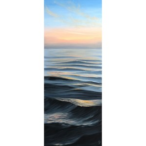 Large Sunrise over teh Ocean Painting - Dreaming of Summer