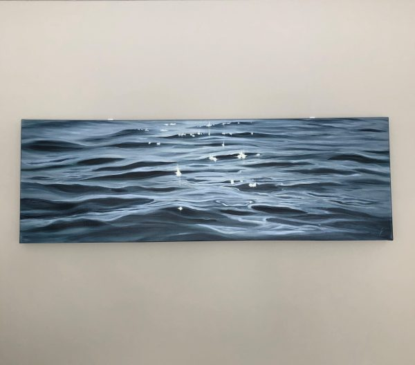 Large Monochromatic ocean painting - Eternity